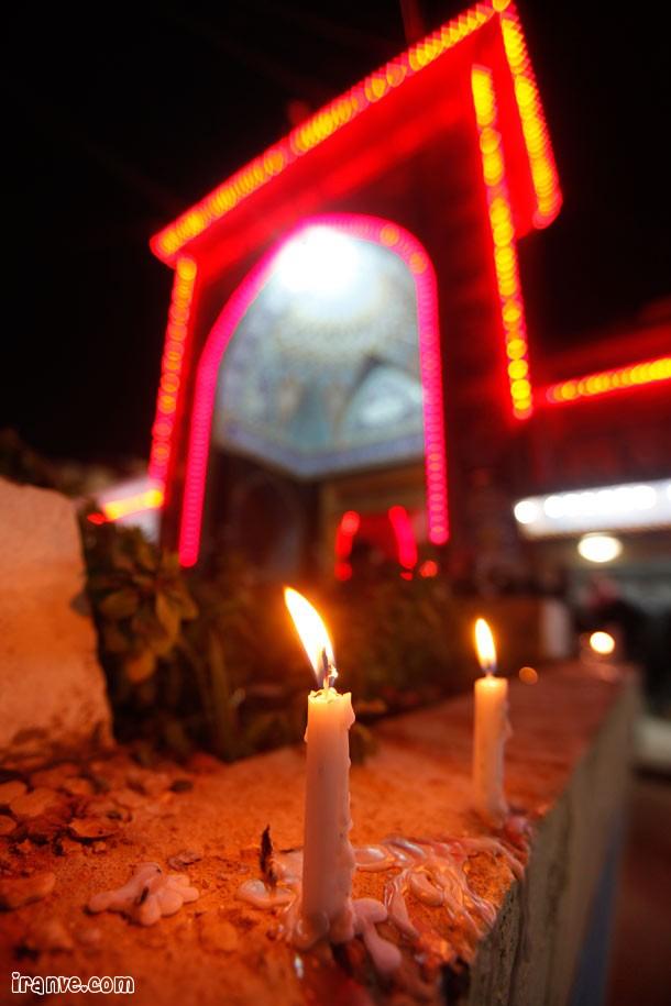 روشن کردن شمع در شام غریبان،کربلا