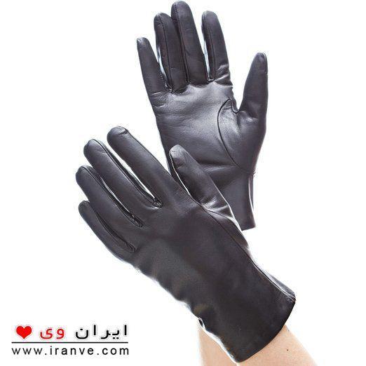 دستکش چرم سیاه