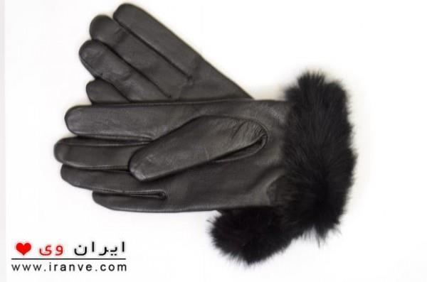 دستکش خز دار دخترانه