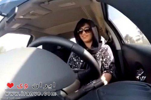لجین الهذلول فعال سعودی حقوق زنان در حال رانندگی