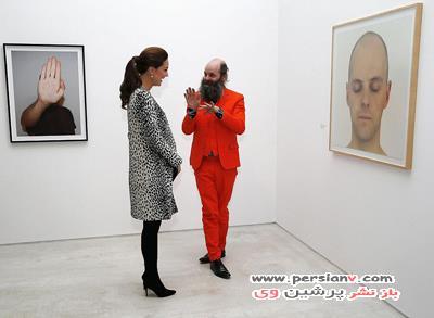 حضور کیت میدلتون در یک گالری هنری