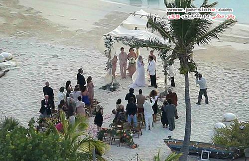 عکس های لورفته از عروسی جانی دپ و همسرش
