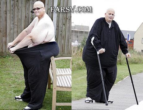 چاق ترین مرد جهان