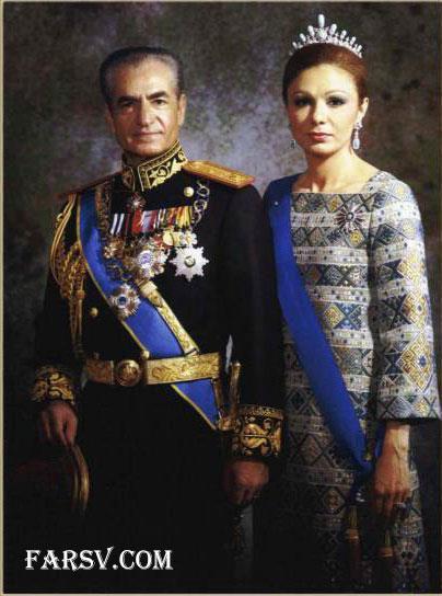 فرح دیبا و محمدرضا پهلوی