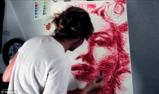 نقاشی با لب