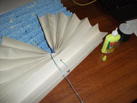 پرده کرکره کاغذی,نحوه درست کردن پرده کرکره کاغذی