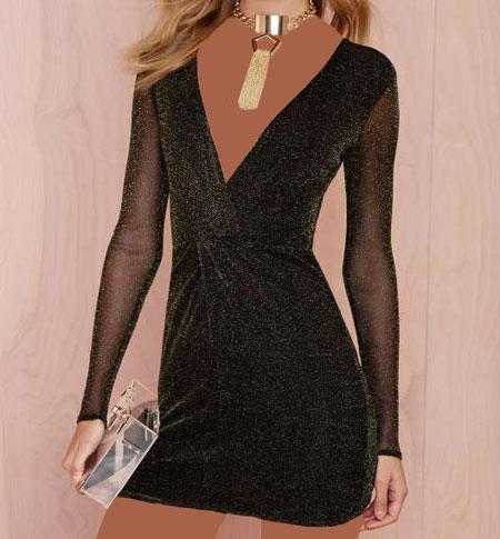لباس مجلسی کوتاهNasty Gal, مدل پیراهن دخترانه