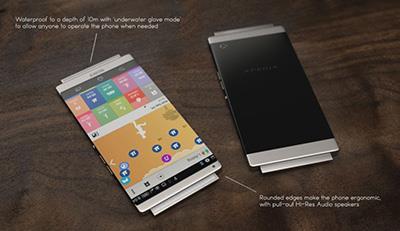 عکس طراحی مفهومی لو رفته از گوشی سونی اکسپریا Sony Xperia Z5