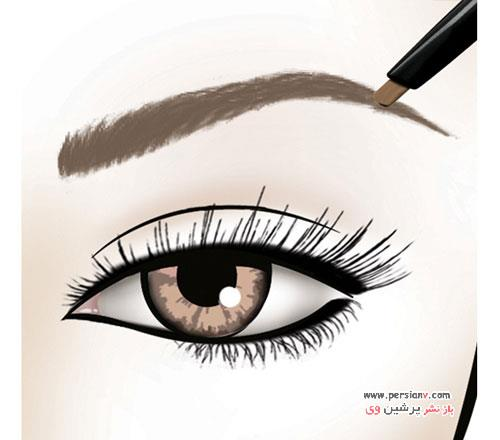 آرایش ابرو زیبا و فوری در سه مرحله ساده