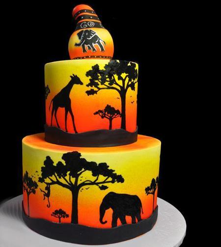 کشیدن نقاشی روی کیک,طراحی روی کیک تولد,تزیین روی کیک