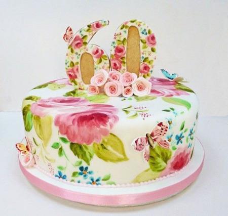 نقاشی روی کیک تولد,طرز نقاشی روی کیک,کشیدن نقاشی روی کیک