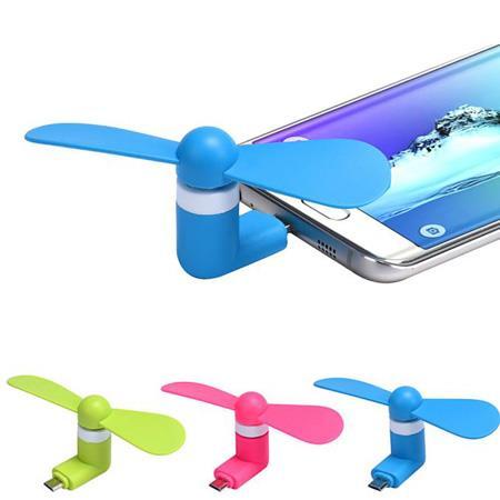 پنکه موبایل با پورت میکرو USB و یو اس بی