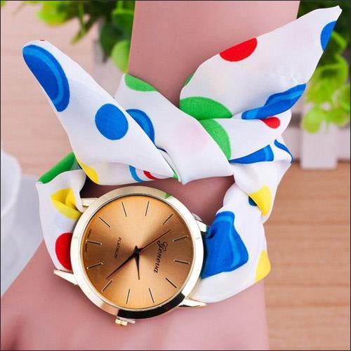 ساعت دخترانه مدل رنگین کمان