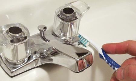 نحوه تمیز کردن شیرآلات,راه و روش تمیز کردن شیرآلات
