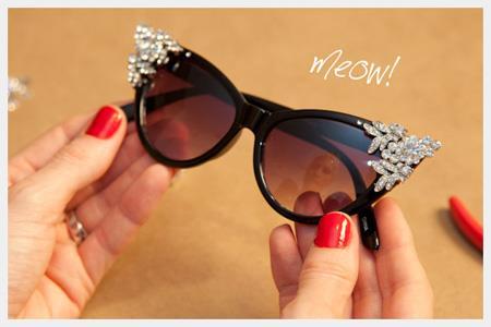 تزیین کردن عینک آفتابی,روش های تزیین عینک آفتابی