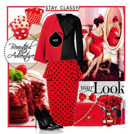 ست کردن پیراهن شب قرمز به سبک پنه لوپه کروز, ست کردن پیراهن شب قرمز