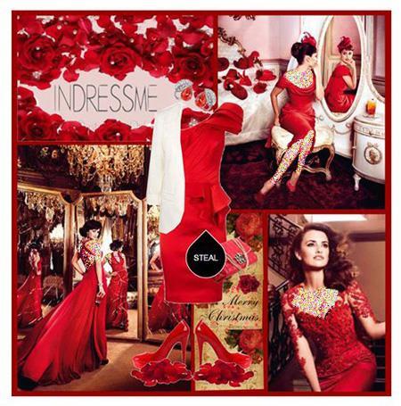 ست کردن لباس شب به رنگ قرمز, ست لباس شب به رنگ قرمز
