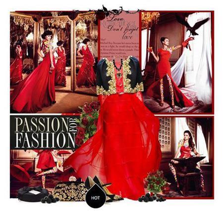 ست کردن لباس شب به سبک پنه لوپه کروز, ست کردن با لباس قرمز به سبک پنه لوپه کروز
