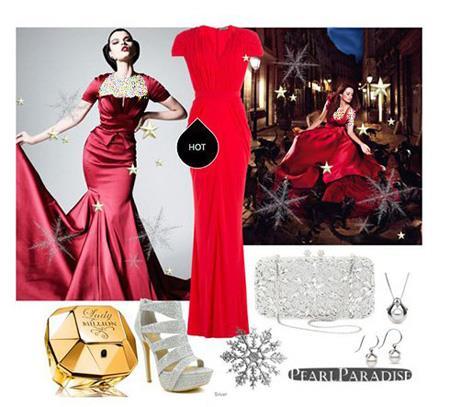 ست لباس شب قرمز, ست کردن پیراهن شب قرمز به سبک پنه لوپه کروز