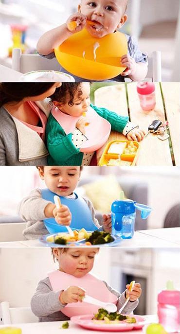 خرید اینترنتی پیش بند کاسه دار مخصوص غذا خوردن کودکان