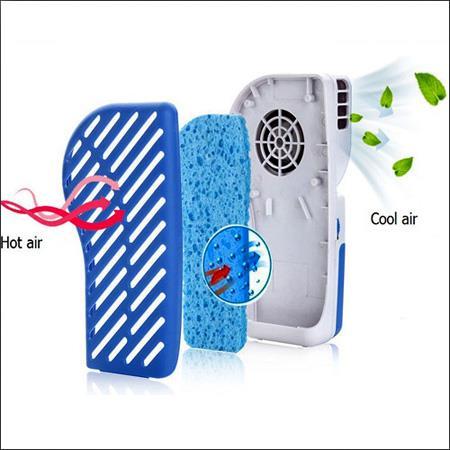 خرید اینترنتی مینی کولر آبی دستی به همراه اسفنج آبی