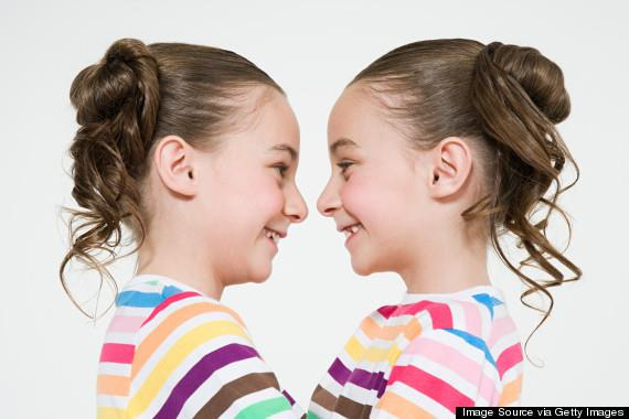 Twins face to face