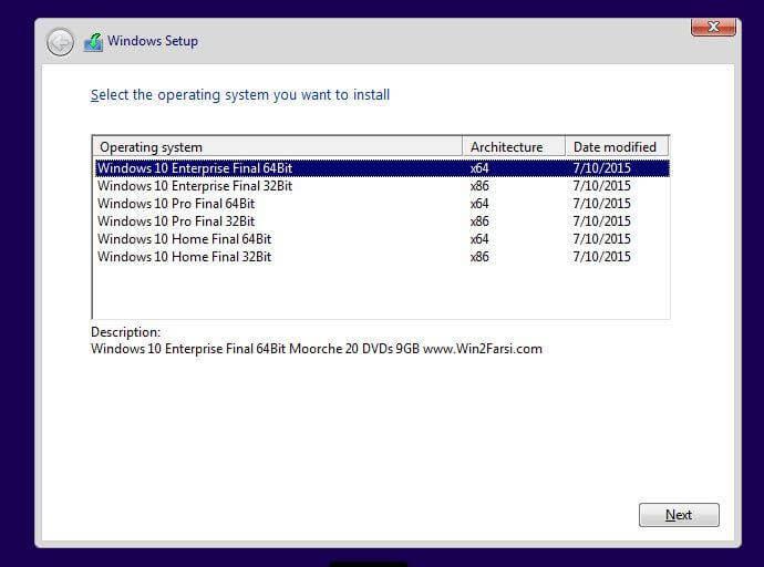 آموزش نصب ویندوز 10 4
