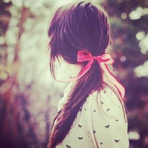 عکس پروفایل دخترونه شیک از پشت سر موهای بلند