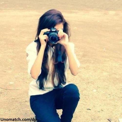 عکس پروفایل دخترونه در حال عکاسی