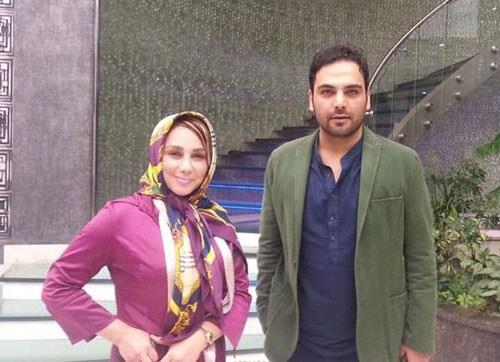 عکس احسان علیخانی مجری و بهنوش بختیاری