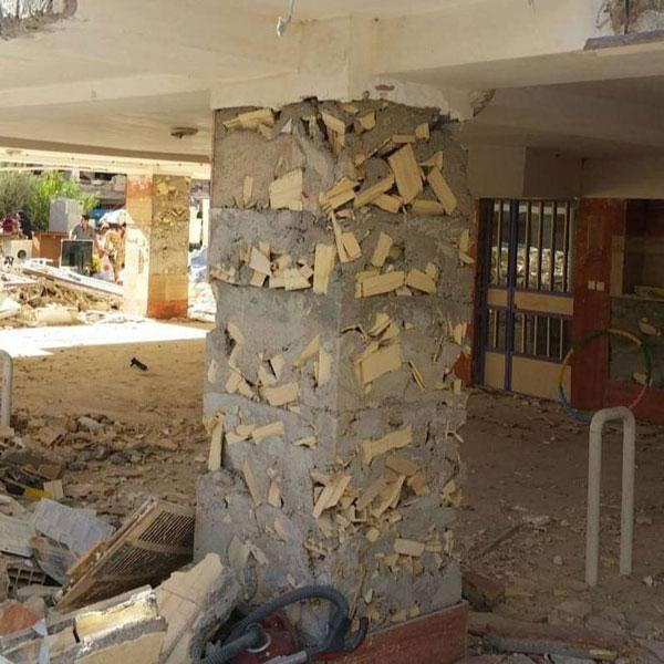 عکس عجیب از ستونهای مسکن مهر پس از زلزله