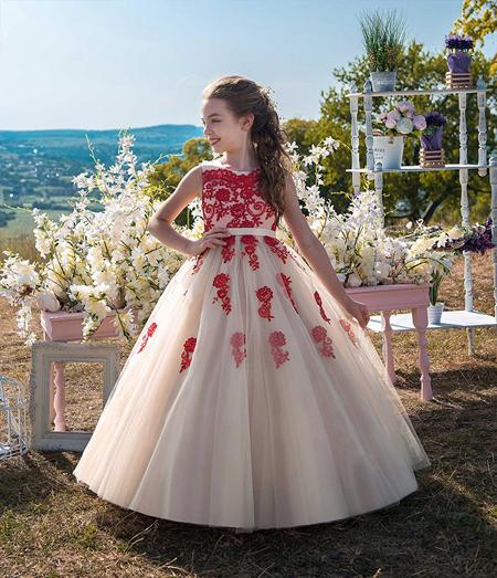 شیک ترین مدلهای لباس مجلسی دخترانه پرنسسی