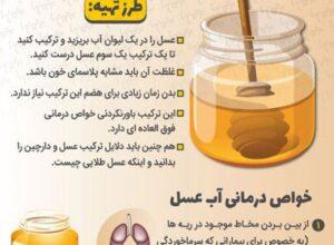 خواص خوردن عسل با آب برای بدن چیست؟