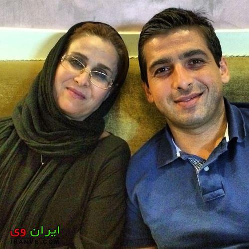 عکس حمید گودرزی و مادرش
