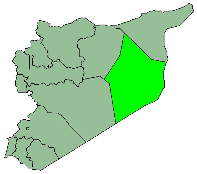 استان دیر الزور در نقشهٔ سوریه