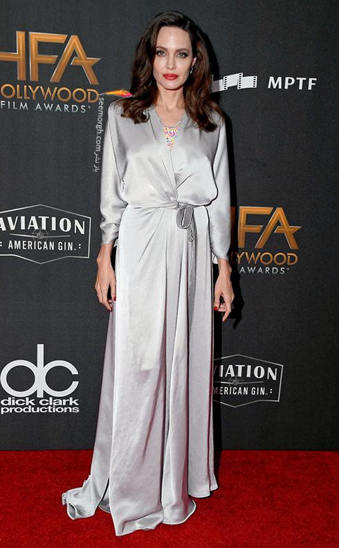 مدل لباس آنجلینا جولی Angelina Jolie در جوایز فیلم هالیوود hollywood film awards 2017