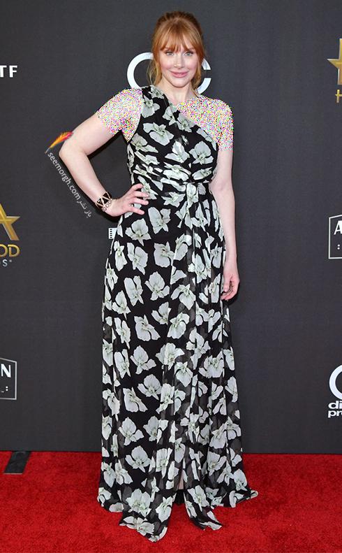 مدل لباس برسی دالاس Bryce Dallas در جوایز فیلم هالیوود hollywood film awards 2017
