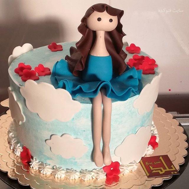 کیک تولد دخترانه فانتزی و شیک زیبا