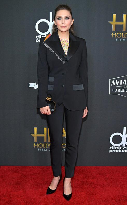 مدل لباس الیزابت اولسن Elizabeth Olsen در جوایز فیلم هالیوود hollywood film awards 2017