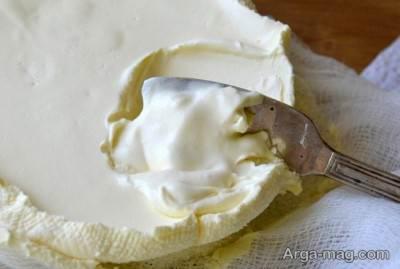 دستور آماده سازی پنیر خامه ای در منزل