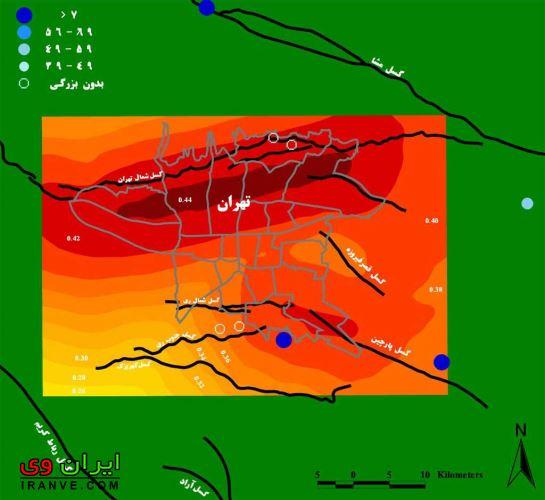 مناطقی از تهران که زلزله دیشب تهران را بیشتر احساس کرده اند