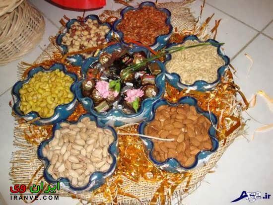 ایده متفاوت برای طرز تزئین اجیل شب یلدای زیبا