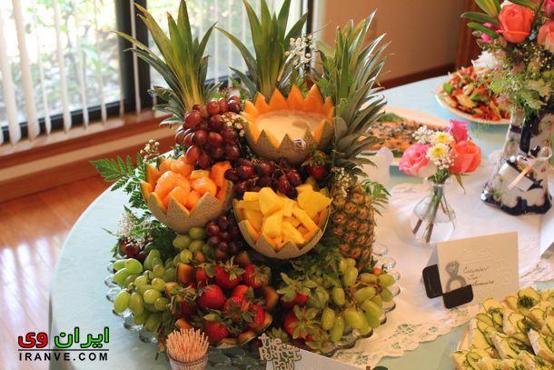 درست کردن سبد گل با استفاده از میوه برای شب یلدا