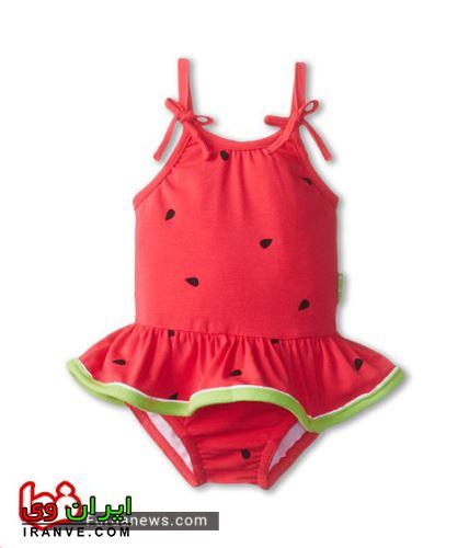 لباس با طرح هندوانه برای نوزاد دختر