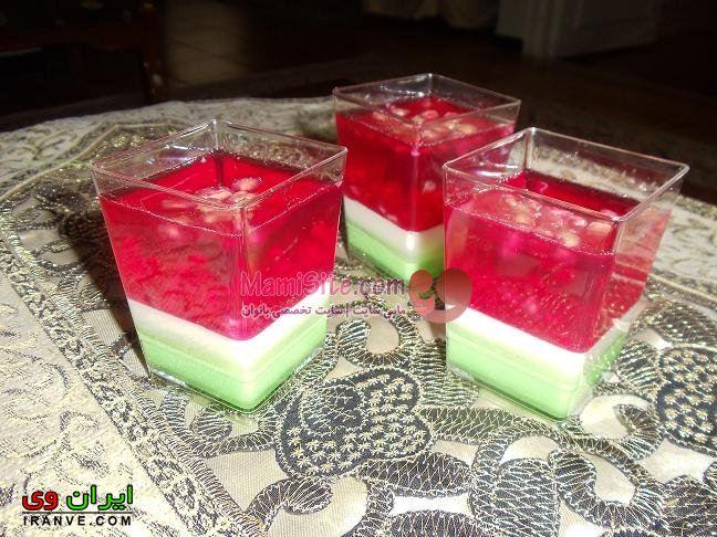 عکس انواع مدل ژله شب یلدا با هندوانه