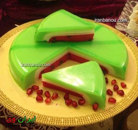 عکس مدل ژله هندوانه جدید شب یلدا