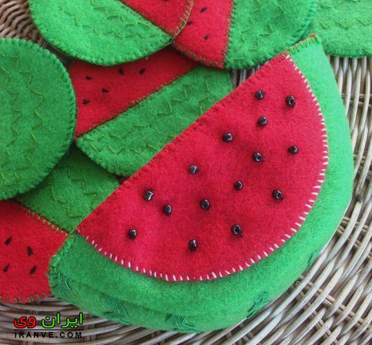 برش هندوانه کاردستی شب یلدا