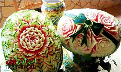 تزیین هندوانه شب یلدا (3)