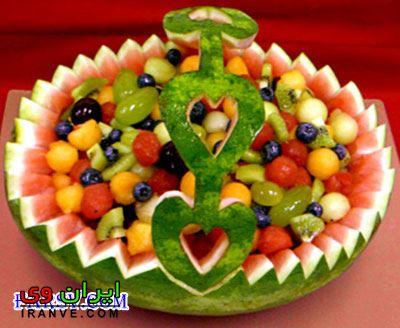 تزیین هندوانه شب یلدا (34)