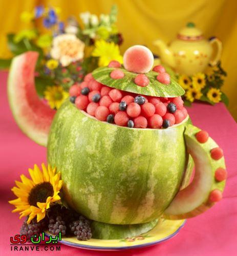تزیین هندوانه شب یلدا (4)